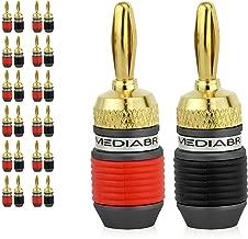 Mediabridge Banana Plugs - 24K Gold-Plated Connectors - Non-Conductive Base - 12 Pair/24 Banana Plugs (Part# SPC-BP3-12)