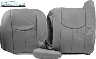 2003 Chevy Silverado-Driver Side COMPLETE Replacement Leather Seat Covers GRAY