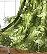 MYRU 2 Panels Set Banana Leaf Curtains for Windows Tropical Curtains for Living Room (2 Panels 54 by 84 Inch,Green)