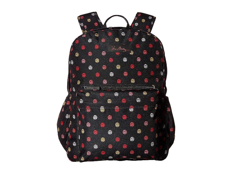 Vera Bradley Lighten Up Grande Laptop Backpack (Havana Dots) Backpack Bags