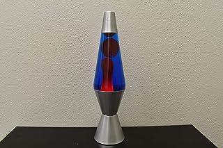 Lava Lite 21200401US Lava, 14.5 pulgadas, encerado, líquido, lámpara de base plateada, 20 onzas, rojo/azul/plateado