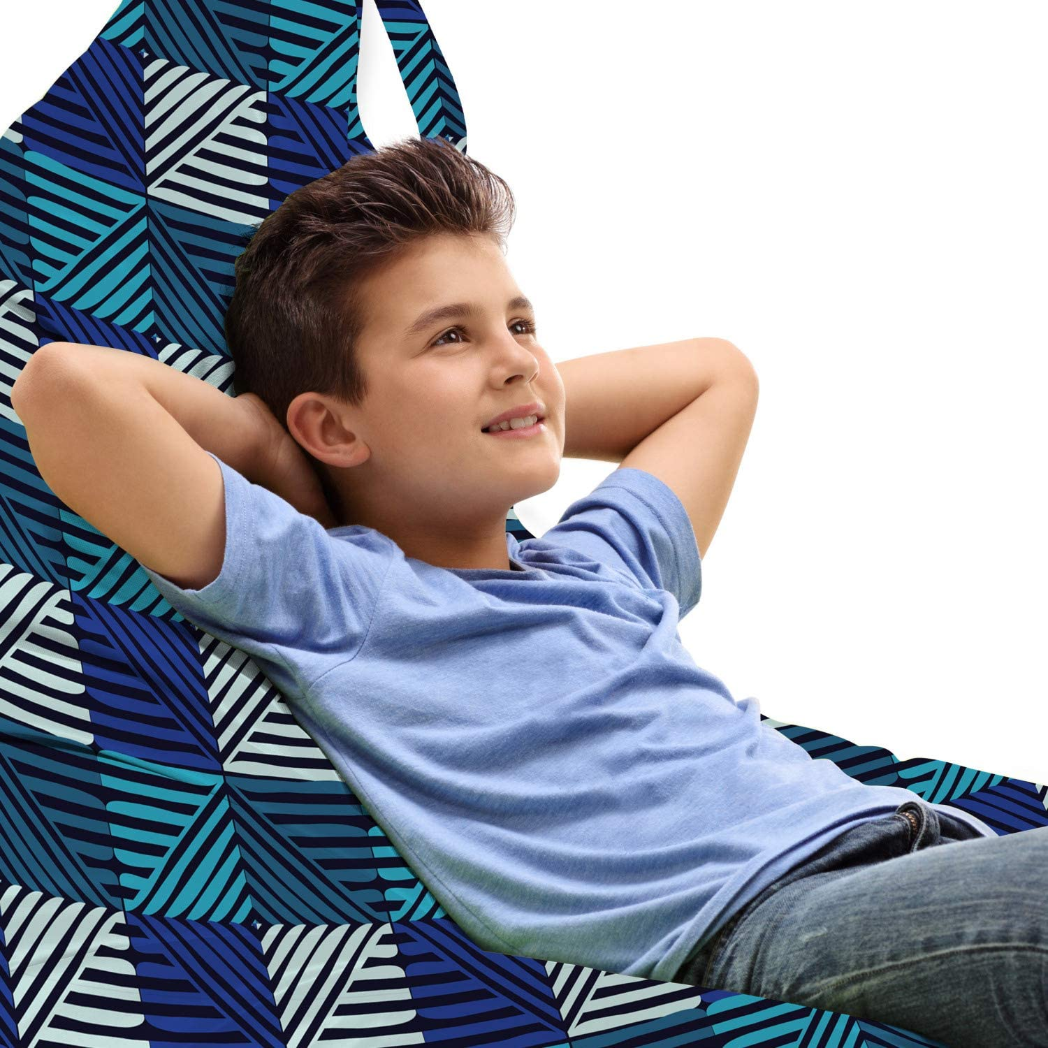 Lunarable Abstract Lounger Chair Bag and Diagonal St New products, world's highest quality popular! Max 63% OFF Horizontal