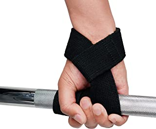 Sunny Health & Fitness Unisex Adult NO. 086 Padded Lifting Straps With Cushioned Wrists (Pair) - Black, One Size