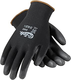 G-Tek ONX 33-B125/M Seamless Knit Nylon Glove with Polyurethane Coated Smooth Grip on Palm and Fingers
