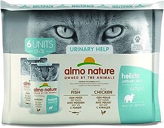 almo nature Holistic Urinary Help Multipack con Pesce & con Pollo Cibo Umido Gatto Adulto 6 x 70g cad (Buste)