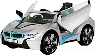 Rollplay 6V BMW I8 Kid's Ride-On Car - for Boys & Girls Ages 3 & Up - Battery-Powered Ride On Toy- Silver