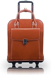 "McKlein, W Series, LA GRANGE, Top Grain Cowhide Leather, 15"" Leather Vertical Patented Detachable -Wheeled Ladies' Laptop ..."