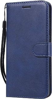 Lomogo Motorola Moto G7 / G7 Plus ケース 手帳型 耐衝撃 レザーケース 財布型 カードポケット スタンド機能 マグネット式 モトローラG7/G7Plus 手帳型ケース カバー 人気 - LOKTU100023 青