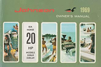 1969 JOHNSON OUTBOARD SEA HORSE 20 HP OWNERS MANUAL P/N 383425 (566)