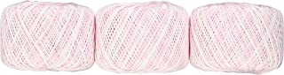 オリムパス製絲 エミーグランデ かすり レース糸 合細 col.11 ピンク 系 25g 約109m 3玉セット