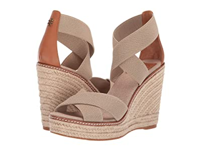 Tory Burch 100 mm Frieda Espadrille Sandal (Natural/Tan) Women