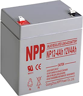 NPP NP12-4Ah Rechargeable Sealed Lead Acid 12V 4 Ah Battery F1 Terminals