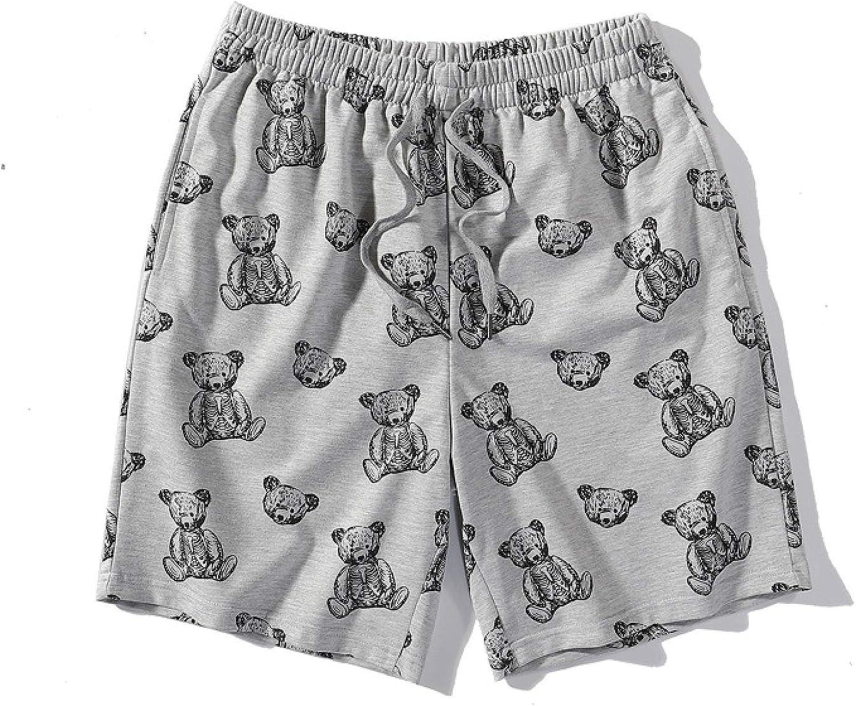 Segindy Men's Fashion Print Sports Shorts Summer Casual Loose Comfortable Elasticated
