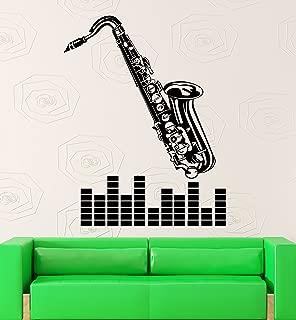 Wall Sticker Vinyl Decal Music Saxophone Musical Instrument Jazz Blues (ig2188)