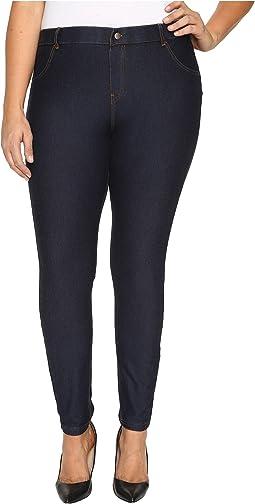 HUE - Plus Size Essential Denim Leggings