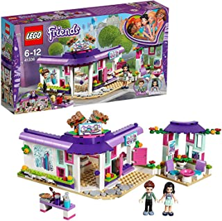 LEGO 41336 Friends Heartlake Emma's Art Café Playset, Emma and Pranksy Mini Dolls, Build and Play Fun Toys for Kids