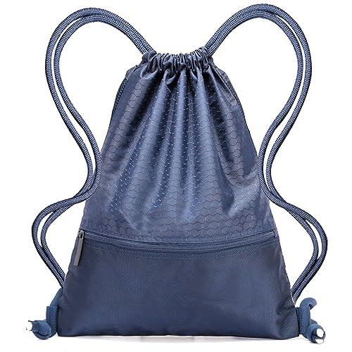 a5ccc9abfcd Drawstring Bag,Nylon Waterproof Sport Gym Bag Sackpack-Lightweight and  Foldable Cinch Sack Drawstring
