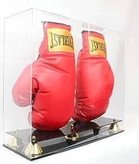 ダブルボクシンググローブ表示ケースホルダーショーケース、with Stands for the手袋、UV保護、エレガントなライザースタンド?–?ac-gx01