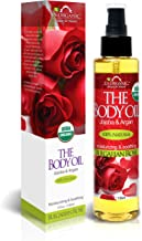 US Organic Body Oil - Romantic Sexy Bulgarian Rose- Jojoba and Argan Oil with Vitamin E, USDA Certified Organic, No Alcoho...