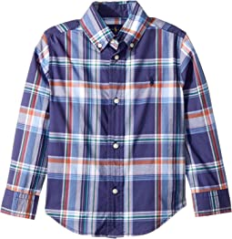 Plaid Stretch Cotton Shirt (Toddler)