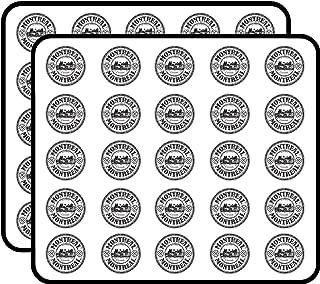 Montreal Canada Grunge Rubber Stamp Art Decor Sticker for Scrapbooking, Calendars, Arts, Kids DIY Crafts, Album, Bullet Journals 50 Pack