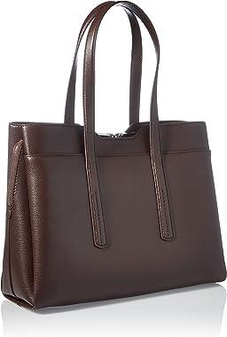 BOSS Bolso de negocios Taylor Business Tote para mujer, color marrón oscuro 205