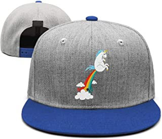 a4fb053a6af Cartoon Unicorns Fart Rainbows Adjustable Baseball Cap Plain Dad hat  Snapback Trucker