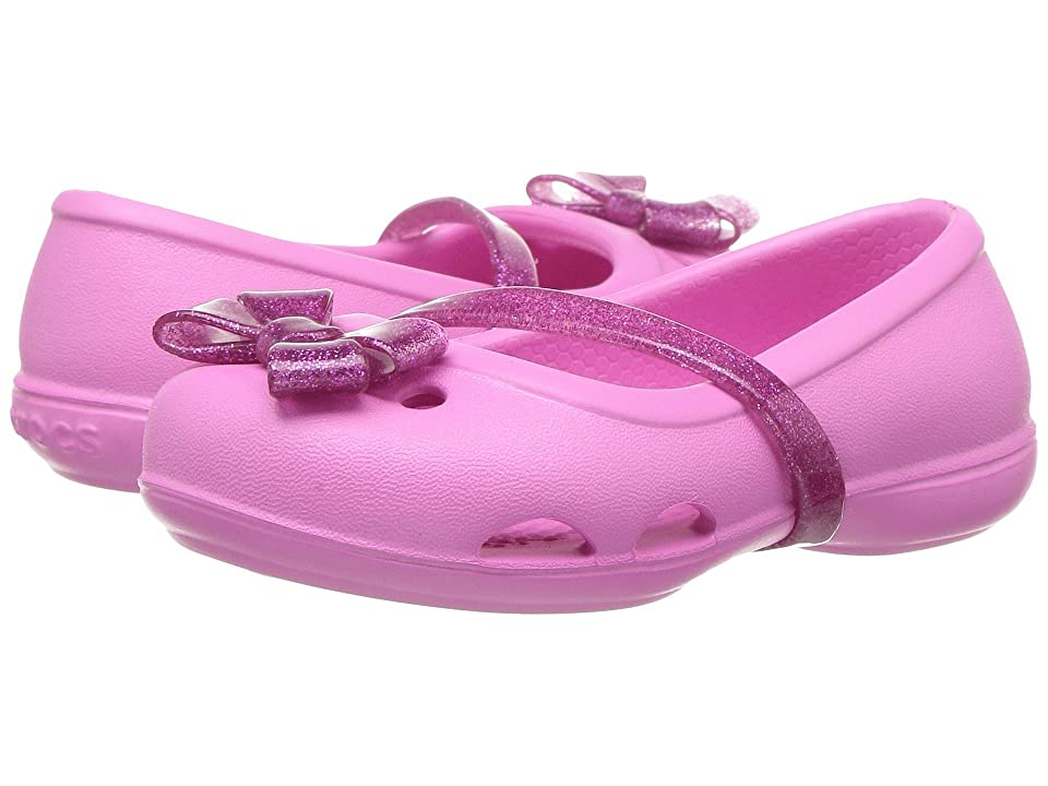 Crocs Kids Lina Flat (Toddler/Little Kid) (Party Pink) Girls Shoes