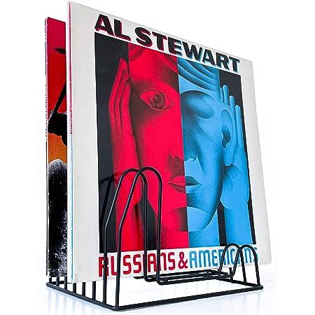draadwerk Support pour 35 disques vinyles - Support pour 35 disques - Support LP - Support pour prospectus - Support en vinyle - Rangement de livres - Porte-revues - Décoration pour vinyles - Noir