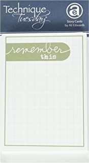 Technique Tuesday Remember This Story Cards 3 x 4-inch 2, Pack of 4, Green