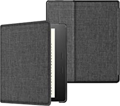 CaseBot Slimshell Case for All-New Kindle Oasis (10th Generation, 2019 Release and 9th Generation, 2017 Release) - Premium Fabric Lightweight Protective Cover with Auto Wake Sleep, Denim Charcoal