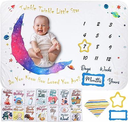 Milestone Blanket for Baby Girl & Boy
