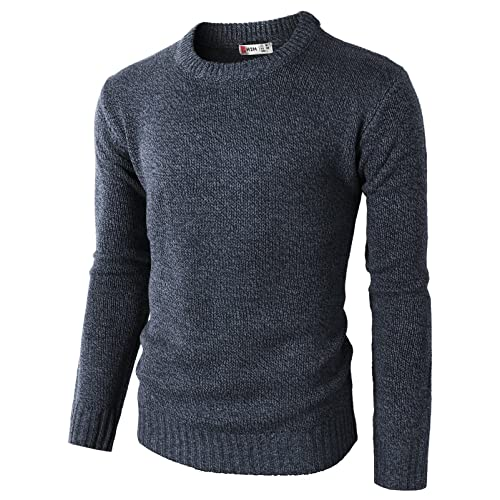 317b303a62af81 H2H Mens Casual Slim Fit Pullover Sweaters Knitted Long Sleeve Basic  Designed