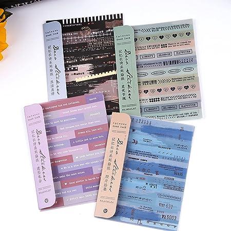 Dizdvizd Autocollants Scrapbook, 24 feuilles Papier Washi Vintage Autocollant pour Scrapbooking, Ordinateur Portable, Agenda, Journaux, DIY Arts and Crafts