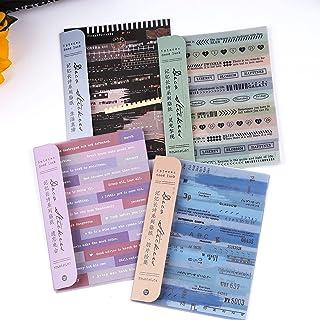 Dizdvizd Autocollants Scrapbook, 24 feuilles Papier Washi Vintage Autocollant pour Scrapbooking, Ordinateur Portable, Agen...