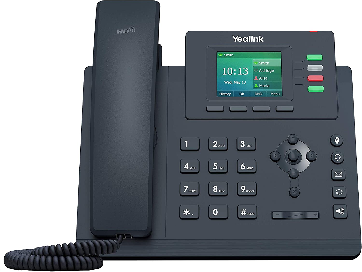 Yealink T33G IP Phone, 4 VoIP Accounts. 2.4-Inch Color Display. Dual-Port Gigabit Ethernet, 802.3af PoE, Power Adapter Not Included (SIP-T33G)