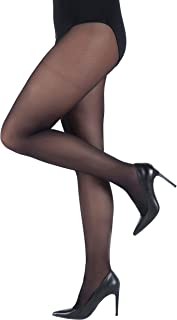 Ulla Popken Damen große Größen bis 60/62   Fein-Strumpfhose   Elastisch, Blickdicht   40 DEN   breiter elastikbund   641315