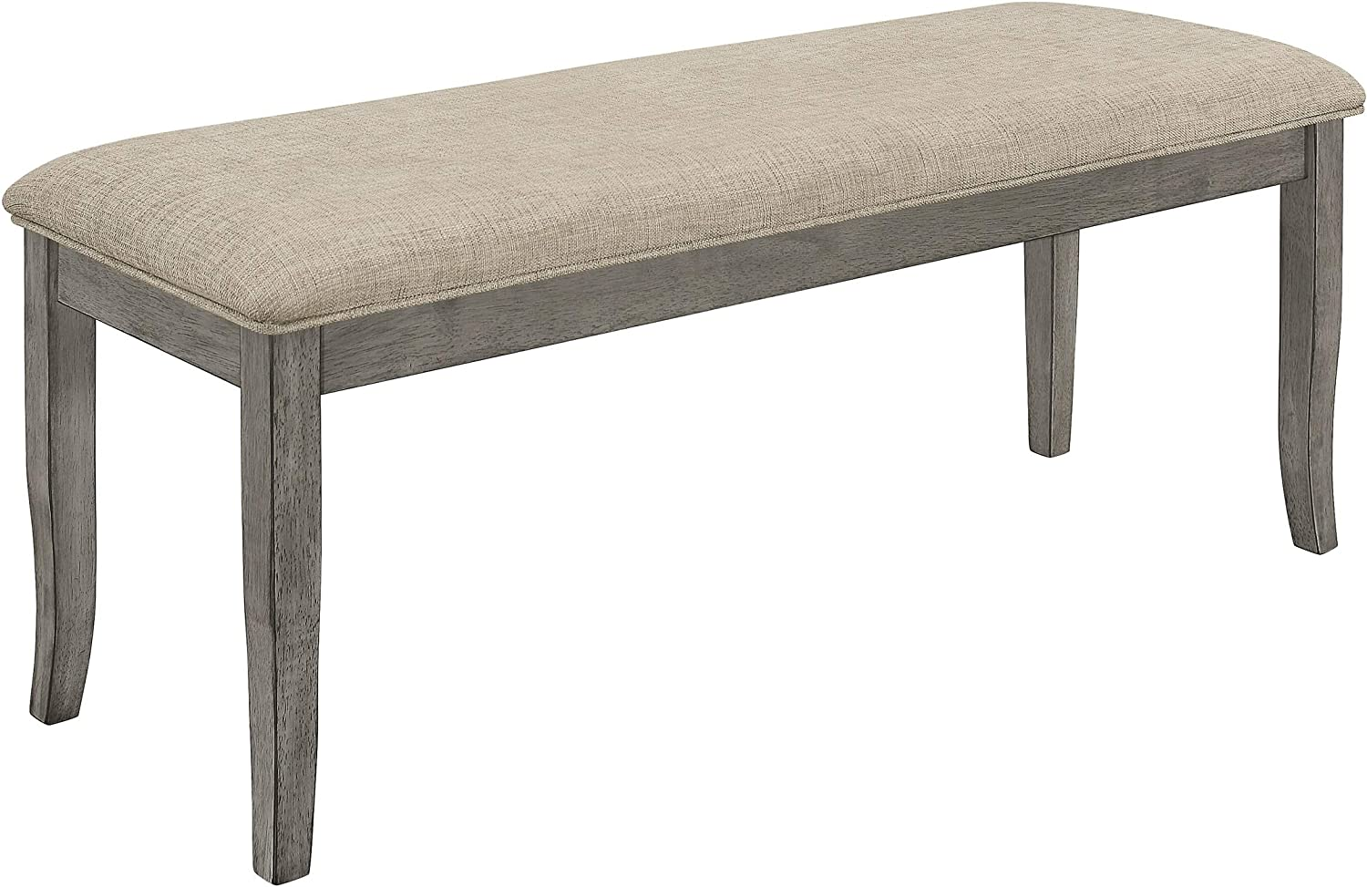 Unknown1 Furniture Dark Grey Rustic Max Inventory cleanup selling sale 60% OFF Woo Bench Traditional Dining