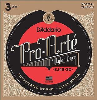 D'Addario 达达里奥 Pro-Arte EJ45-3D 标准张力尼龙古典吉他弦,3组