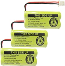 BAOBIAN 2.4V 400mAh Cordless Home Phone Battery Compatible with AT&T BT162342 BT-162342 BT166342 BT-166342 BT266342 BT-266342 BT183342 BT-183342 BT283342 BT-283342 VTech CS6329 CS6114 CS6419(3 Pack)