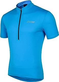 Bpbtti Men's Cycling Jersey Bike Biking Shirt with Half Front Zipper & 3-Rear Pockets