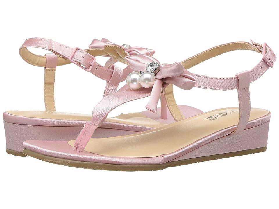 Badgley Mischka Kids Talia Pearl Bow (Little Kid/Big Kid) (Light Pink) Girls Shoes