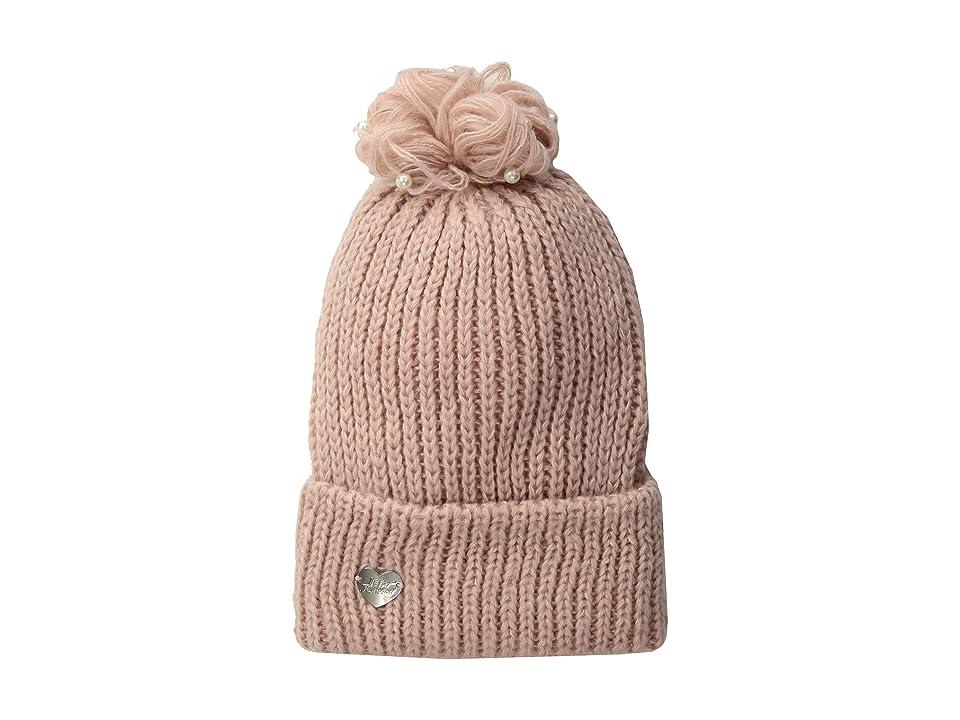 Betsey Johnson Pearl Jam Cuff Hat (Blush) Knit Hats