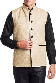 WINTAGE Men's Rayon Bandhgala Festive Nehru Jacket Waistcoat -18 Colors