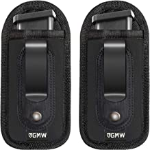 GMW Universal Magnetic IWB Magazine Holster [2-Pack] | Magazine Holder and Pouch for 9mm 1911 .380 .40 .45 Glock 17 19 43 ...