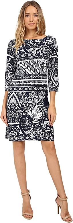 Christin Michaels - Zula Long Sleeve Shift Dress
