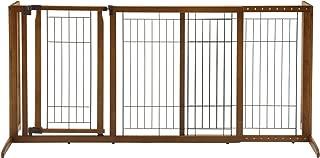Richell Deluxe Freestanding Pet Gate with Door, Medium