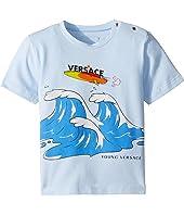Versace Kids - Short Sleeve Wave Graphic T-Shirt (Infant)