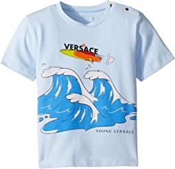 Versace Kids - Short Sleeve Wave Graphic T-Shirt (Infant)