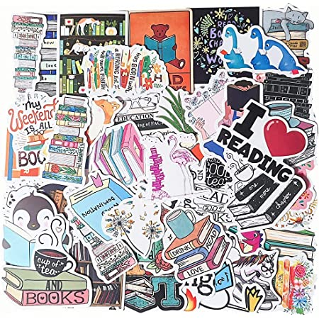Reading Stickers 100 Pcs I Love Reading Decals Motivational Stickers Waterproof Vinyl Decals for Scrapbook Laptop Luggage Skateboard Water Bottle Notebook Phone Decoration